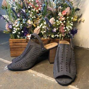 Blue Suede Sandals 👡